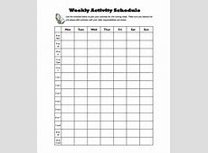 Activity Schedule Templates – 12+ Free Word, Excel, PDF