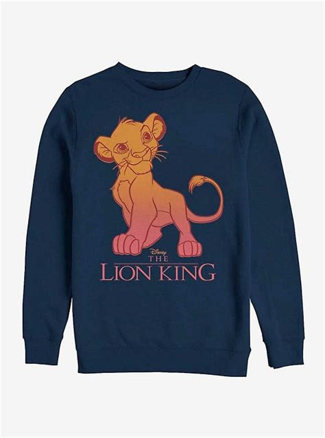 disney  lion king simba fade sweatshirt   sweatshirts faded sweatshirt disney