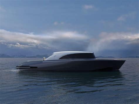 Lamborghini Tender Boat by New Marine Retro Modern Limousine Mega Yacht Tender