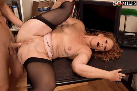 Older Librarian With Red Hair Seduces A Student For Anal