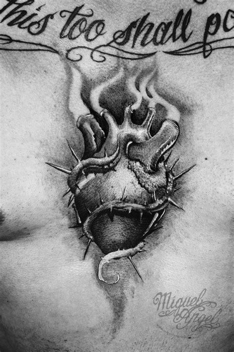 "Sacred heart tattoo design ©""El Whyner"""