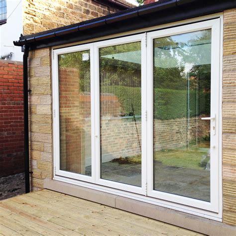 ft white upvc bifold folding doors flying doors