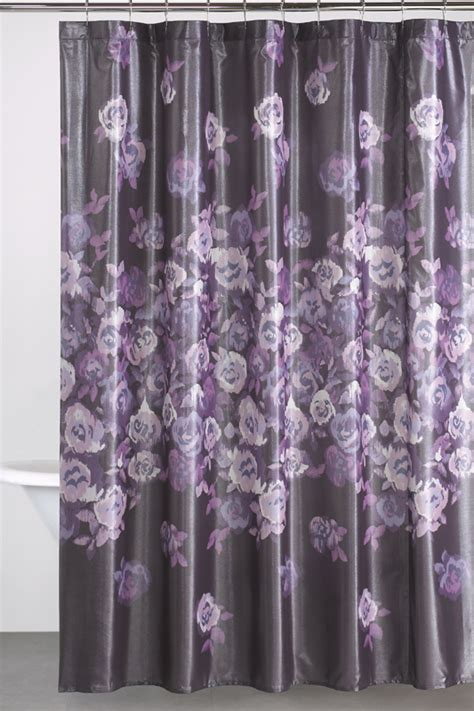 Gray Shower Curtains by Dkny Winterbloom Shower Curtain Donnakaranhome Com