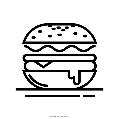 Kleurplaat Hamburger by Hamb 250 Rguer Desenho Para Colorir Ultra Coloring Pages