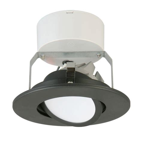 6 gimbal led recessed lighting lithonia lighting 4 in matte black recessed gimbal led