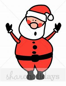 Santa Cartoon Clipart - Clipart Suggest