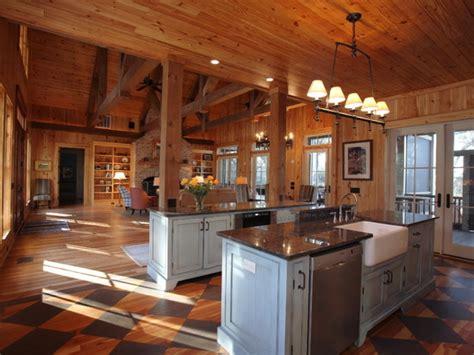Open Cabin Rustic Open Floor Plan Cabins Single Story Open Floor