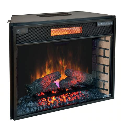 electric fireplace insert classicflame 28 in spectrafire plus infrared electric