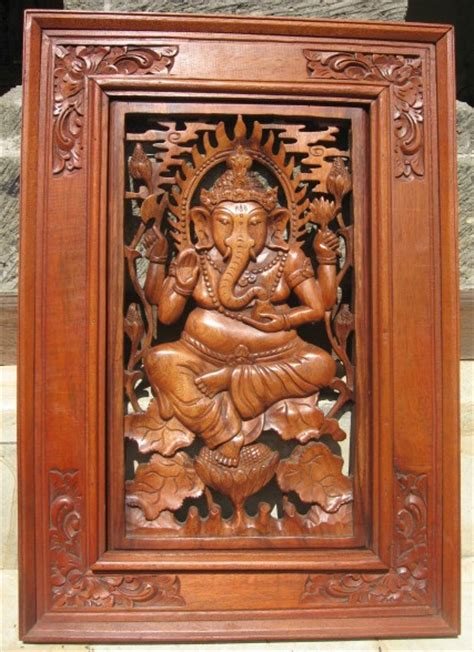 ganesh wood carving  woodworking