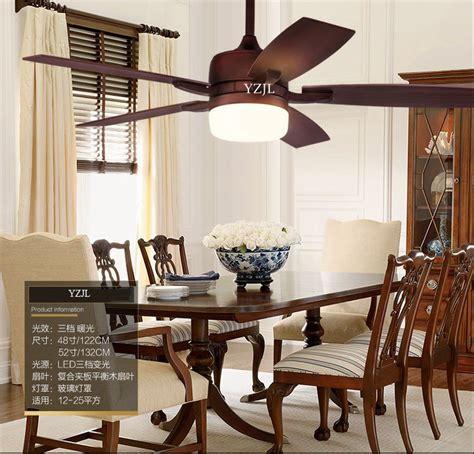 retro living room dining room bedroom fan chandelier fan