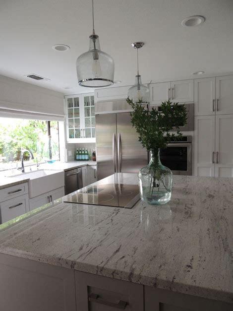 river white granite transitional kitchen sherwin