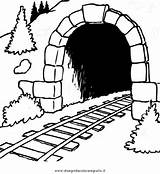 Tunnel Template Coloring Pages sketch template