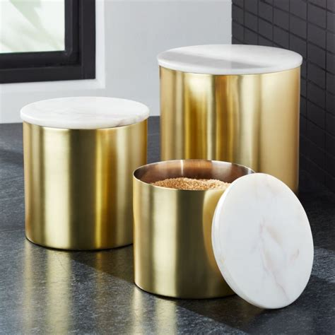 thompson goldmarble canisters crate  barrel