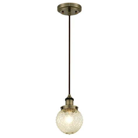 westinghouse  light antique brass mini pendant