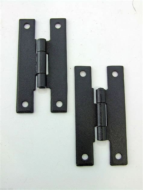 Hinge Cabinet by H Hinges Cabinet Door Furniture Hinge Forged Iron 3 Quot Black