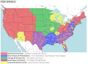 nfl tv schedule  coverage map week