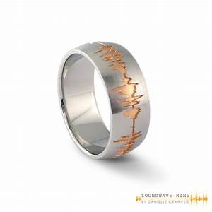 custom soundwave ring sterling silver soundwave jewellery With wedding ring sound wave