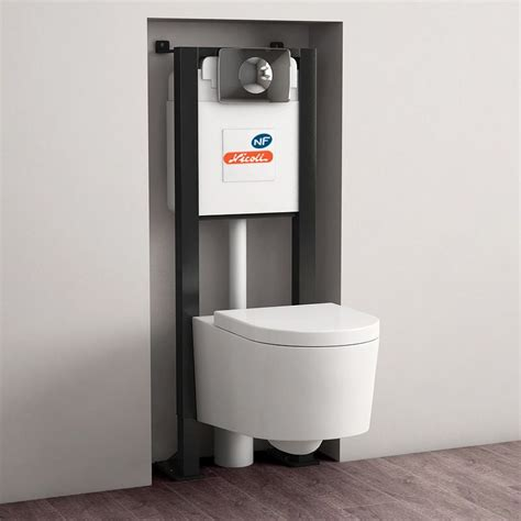 pack bati support geberit 9 cm wc orba compact blanc