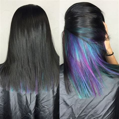 Hair With Color Underneath by Best 25 Underlights Hair Ideas On Dyed Hair