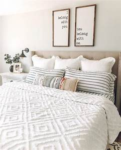 bright white farmhouse master bedroom farmhouse