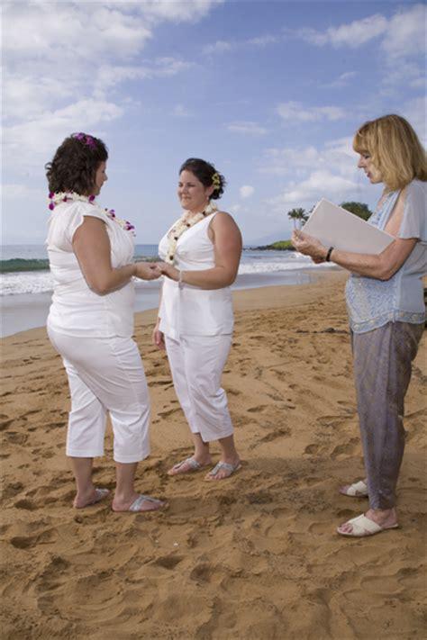 Religious Traditional Maui Wedding Ceremony ~ Christian:   Gay Hawaii Wedding   Gay and Lesbian