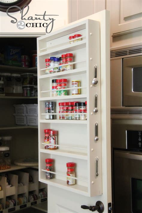 Spice Rack Door Mounted by Pantry Ideas Diy Door Spice Rack Shanty 2 Chic