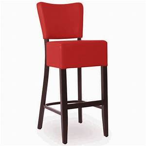 Chaise De Bar Rouge : chaise de bar en bois rembourree couleur rouge czh 2305 r one mobilier ~ Teatrodelosmanantiales.com Idées de Décoration