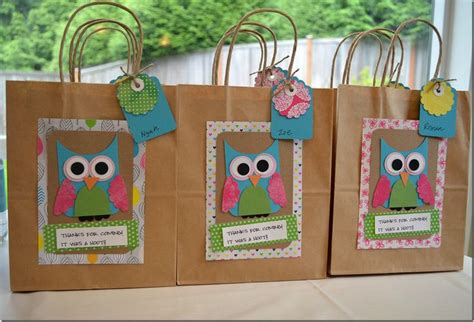 ... Some Fun Owl Party Gift Bags I