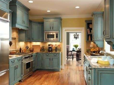 distressed teal kitchen cabinets turquoise rust cabinets my home