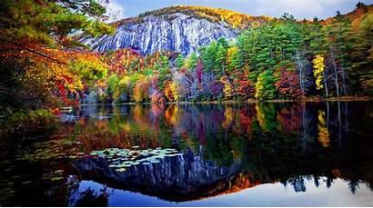 Lake Forest Fall Autumn Mountain Reflected Foliage
