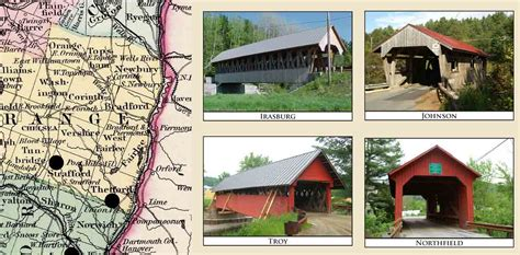Coffins Railroad Map Of Vermont 1896