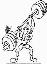 Coloring Pages Weight Lifting Weightlifting Printable Results sketch template