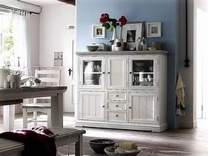 Highboard Landhaus Weiß : highboard kiefer massiv landhausstil wei landhaus deko ~ Watch28wear.com Haus und Dekorationen
