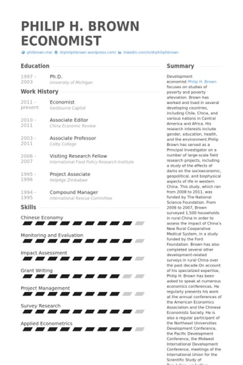 Associate Economist Resume by Economist Resume Sles Visualcv Resume Sles Database