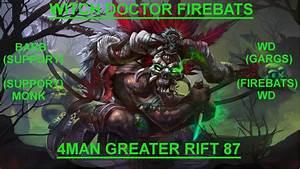 DIABLO 3   Firebats Witch Doctor   Season 7   4 Man Tier ...