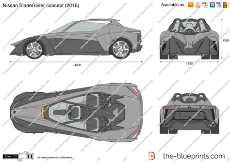 The Blueprintscom Vector Drawing Nissan Bladeglider