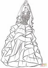 Coloring Bride Princess Pretty Pages Wedding Printable Drawing Paper Dot Categories sketch template