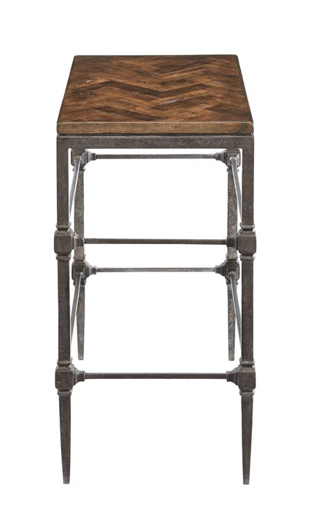 small metal accent table small chairside table with high metal legs and square