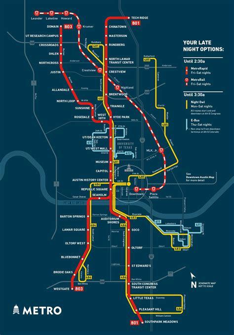 owl service transit map   Austin Cap Metro   Transit map ...