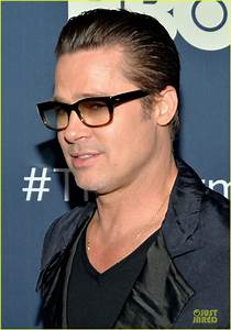 Brad Pitt New Hairstyle: Slicked Back Hair