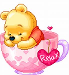 Baby Pooh sleeping in teacup - Images and Messages