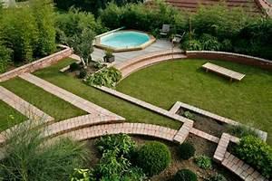 Jardin En Pente Raide : terrasse jardin pente ~ Melissatoandfro.com Idées de Décoration