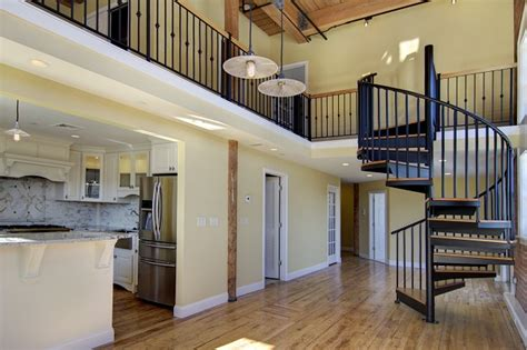 characteristics  loft style homes salter spiral stair