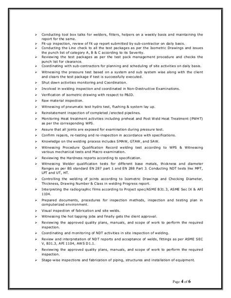 Binukumar resume- QA-QC ENGINEER
