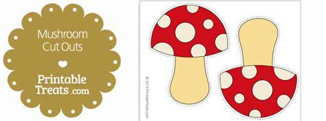 printable mushroom cut outs printable treatscom
