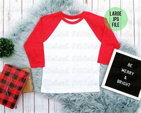 Discover 100+ hoodie mockup designs on dribbble. Best Free Christmas Raglan Mockup Red And White Raglan ...