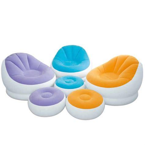 poltrona puffo poltrona pouf gonfiabile con poggiapiedi per salotto intex