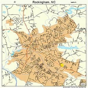 Rockingham North Carolina Street  U0026 Road Map Nc Atlas Po