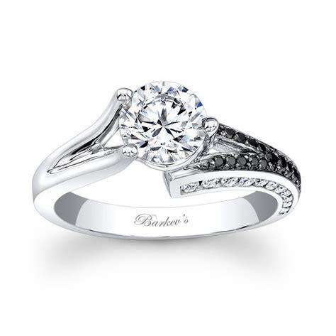black and white wedding rings barkev s black white engagement ring 7873lbk barkev s
