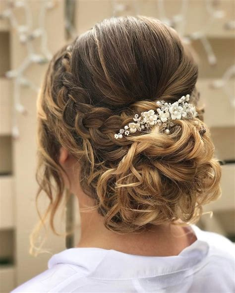 soft front braided updo bridal hairstyle get inspired by